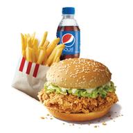 เมนูของร้าน KFC ปั้ม PT ถนนกาญจนาภิเศก ตรงข้ามเยื้องแมคโครบางบอน