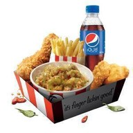 เมนูของร้าน KFC โลตัสชัยนาท