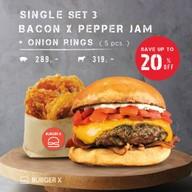 เมนูของร้าน Burger X Pop-up Shop @ Emporium