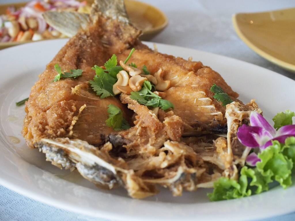 ชมชล กะพงทอดน้ำปลา