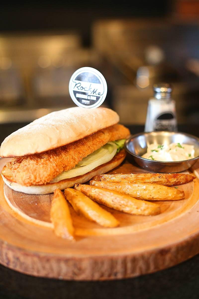 Traditional Fish and Chip on Bun