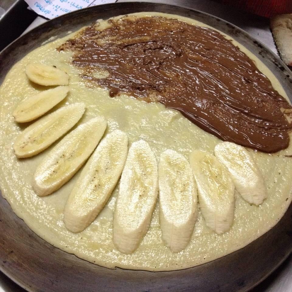 เครปไส้กล้วย นูเทลล่า