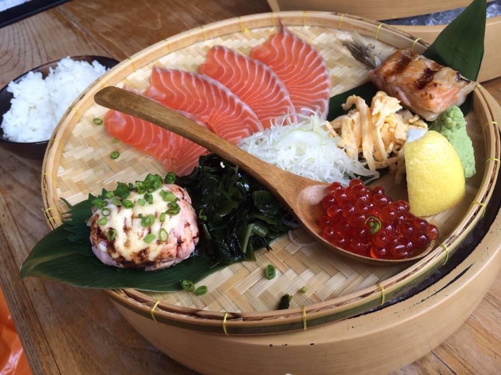 ชุดปลาแซลมอน