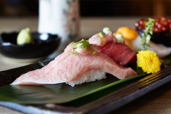 O-Toro Sushi, Akami Sushi, Hotate Sushi and Ikura Sushi