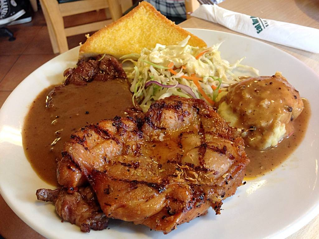 Strip Loin feat.Grilled Lemonglass Chicken Steak. (219)