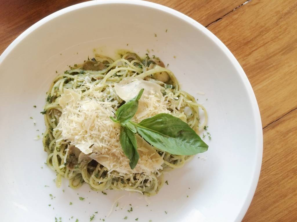 Pesto spaghetti หอมและเข้มข้นนนน