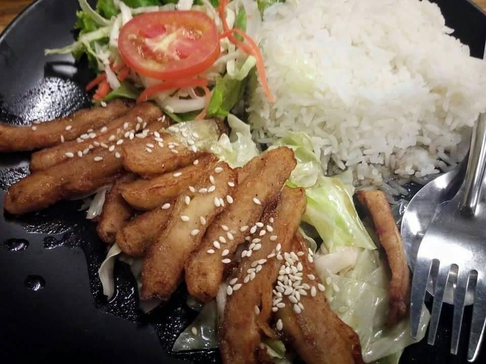 ข้าวไก่ทอดเทอริยากิ