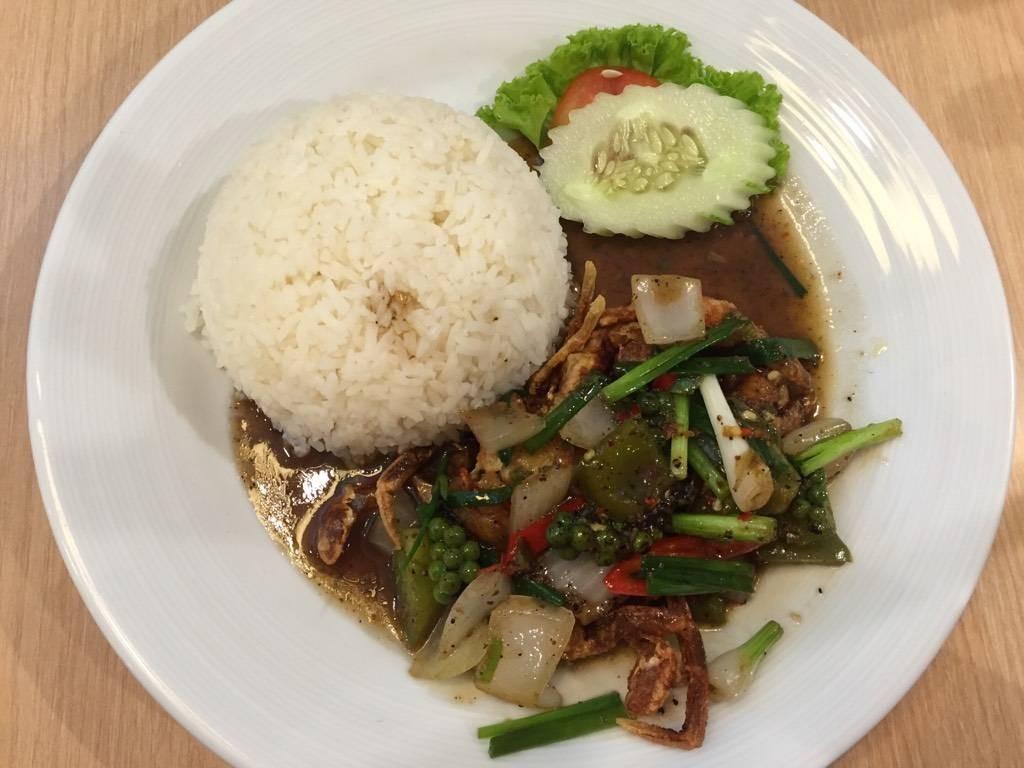 ข้าวปูนิ่มพริกไทยดำ