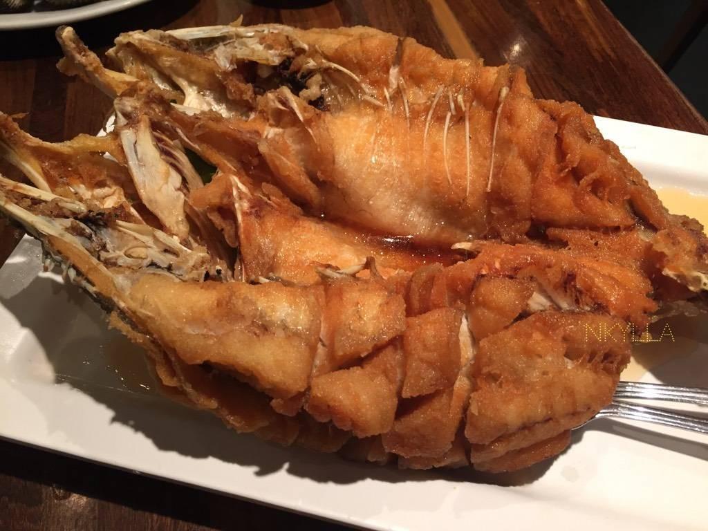 ปลากระพงทอดราดน้ำปลา 299.-(สมาชิก)