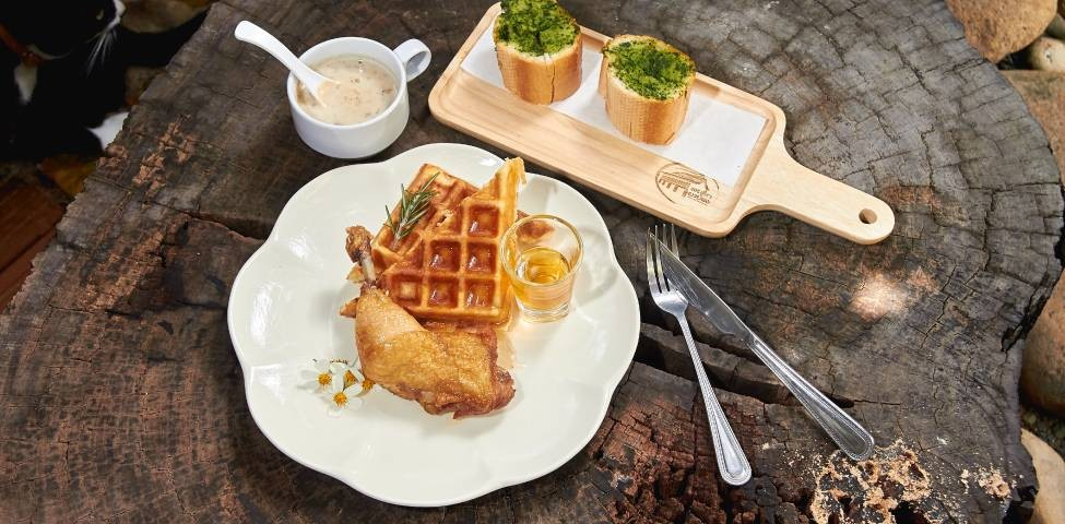 Fried Chicken with Honey & Waffle