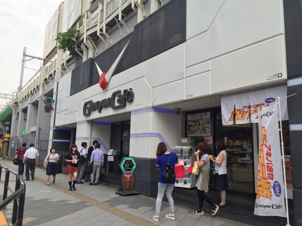 หน้าร้าน Gundam Cafe' Akihabara