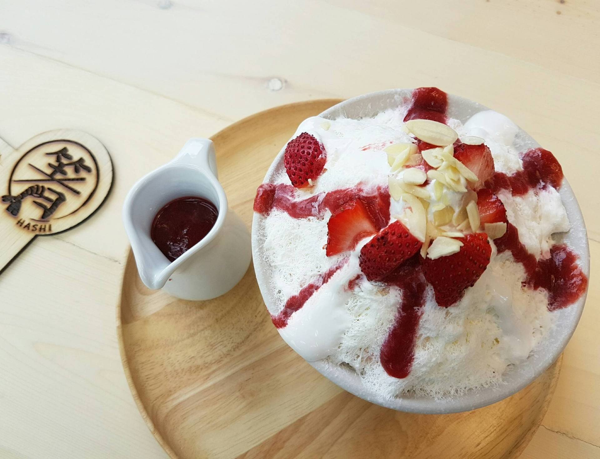 strawberry cheesecake kakigori