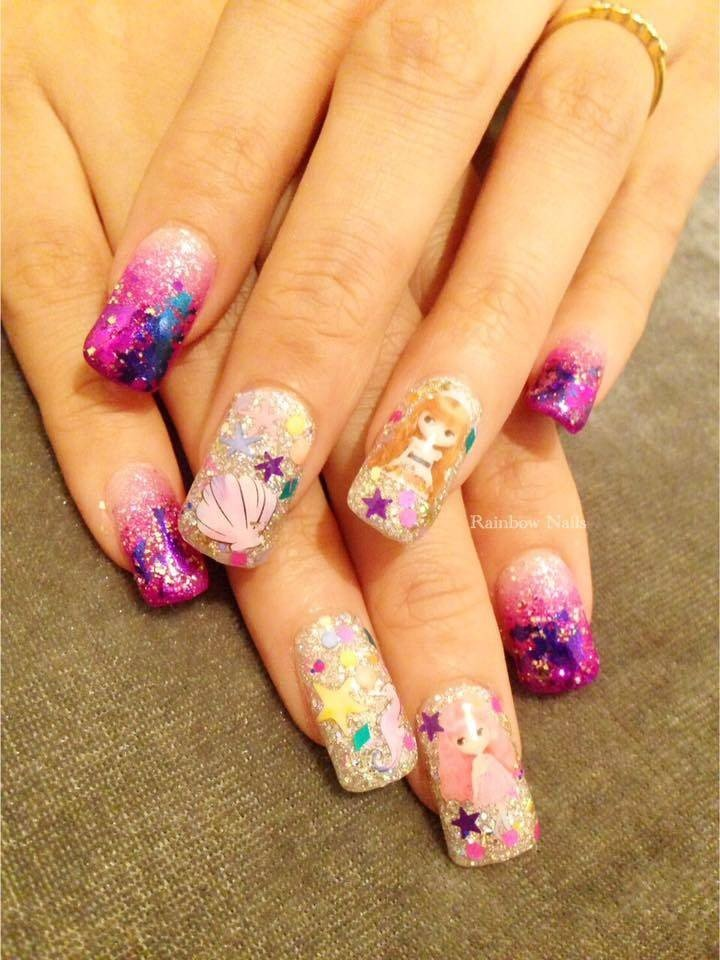 Rainbow Nails Think Park