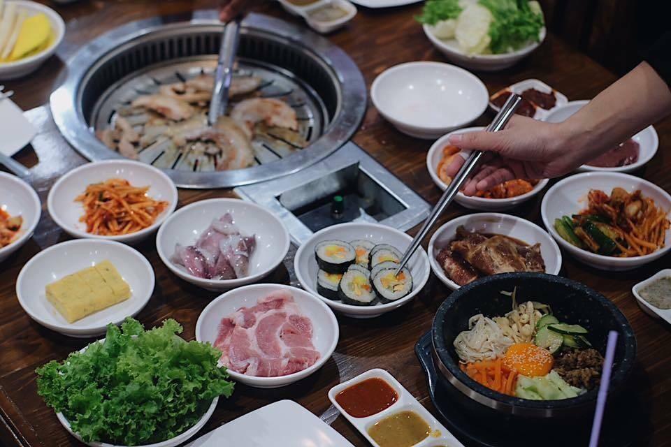 เมนูของร้าน BBQ Myeong-Dong Topokki