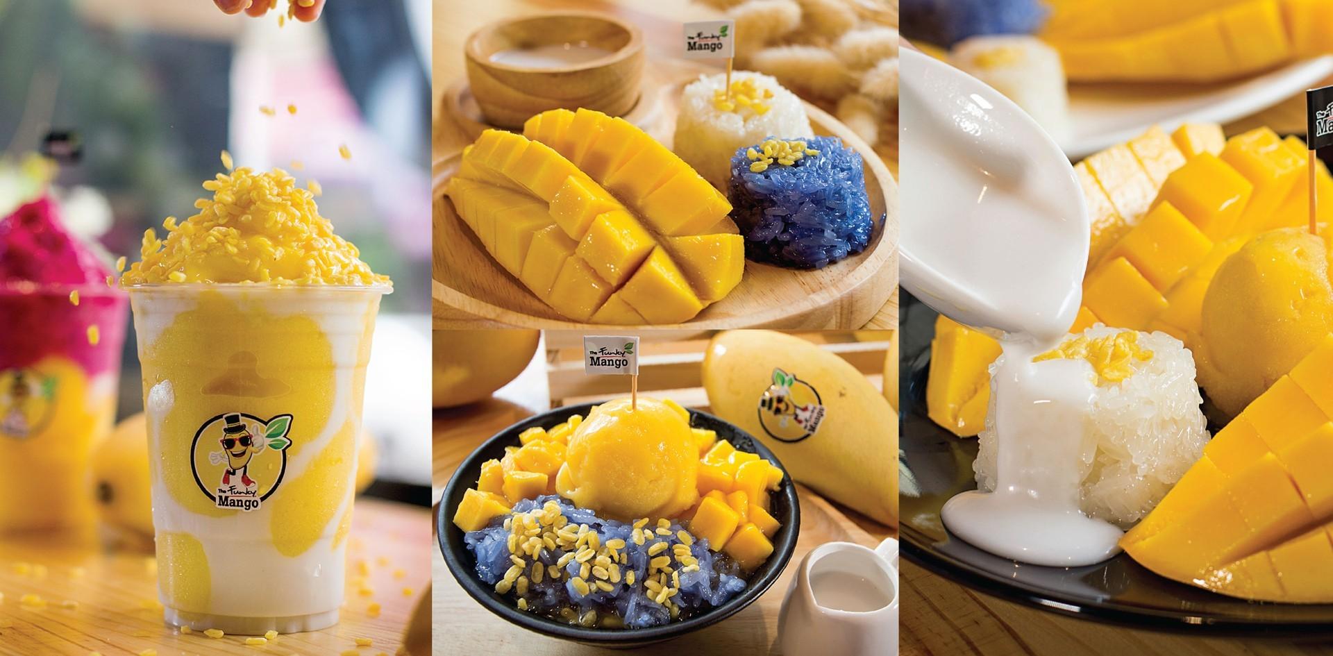 หวานฉ่ำใจ กับ 5 เมนูข้าวเหนียวมะม่วง 'The Funky Mango' หาดใหญ่