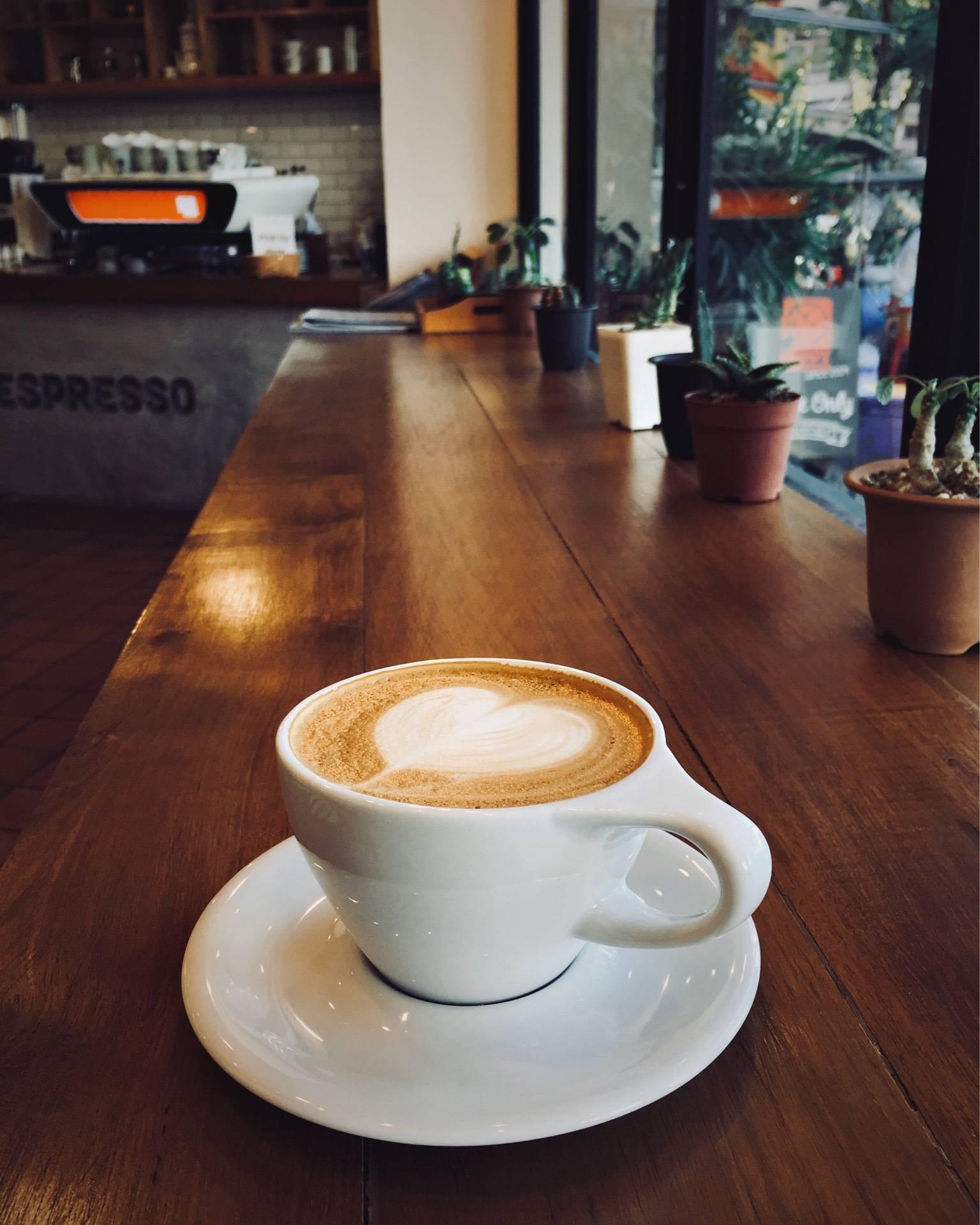 Hot Latte แก้วใหญ่มาก