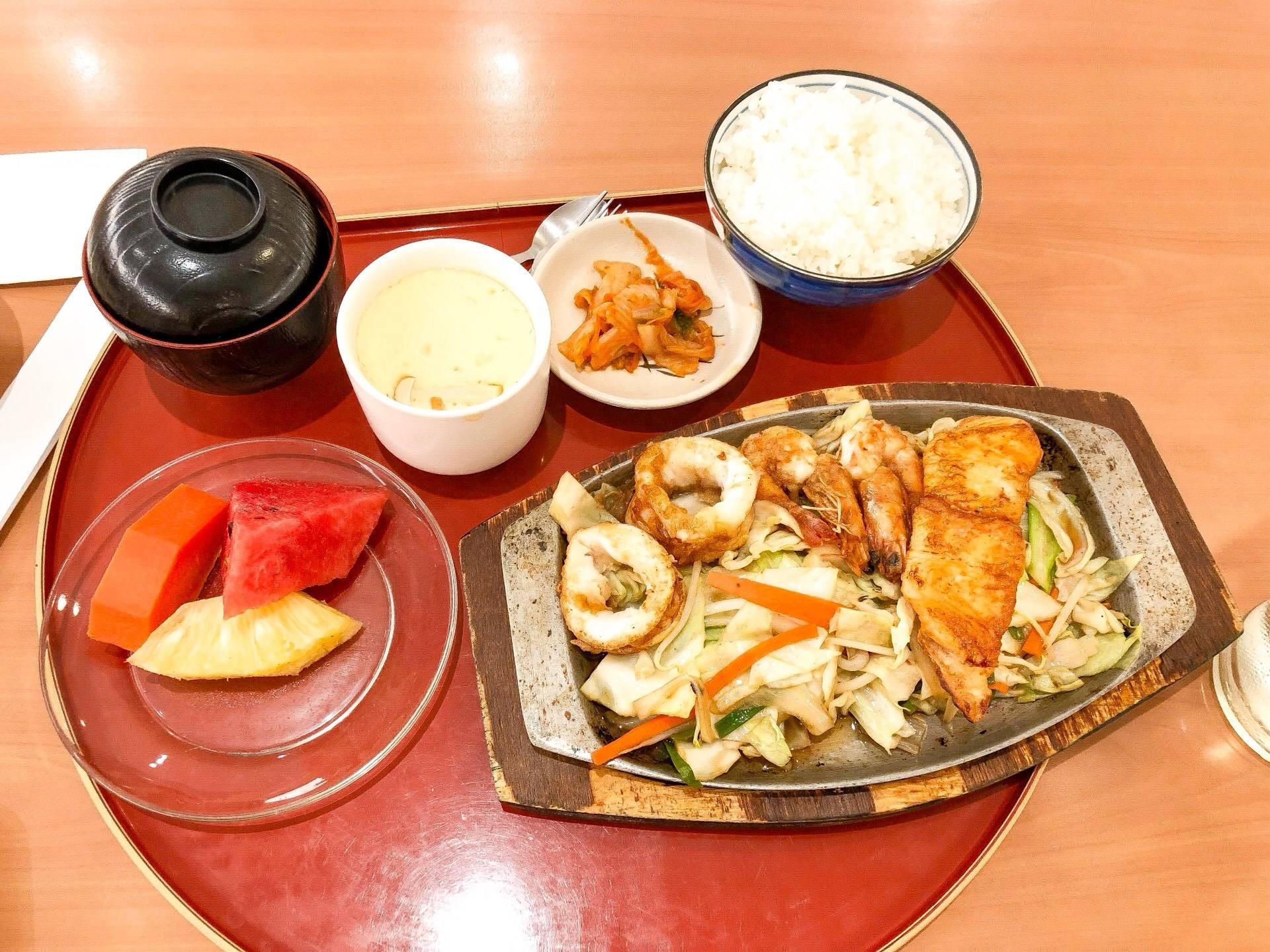 Seafood Steak Teishoku (280THB)
