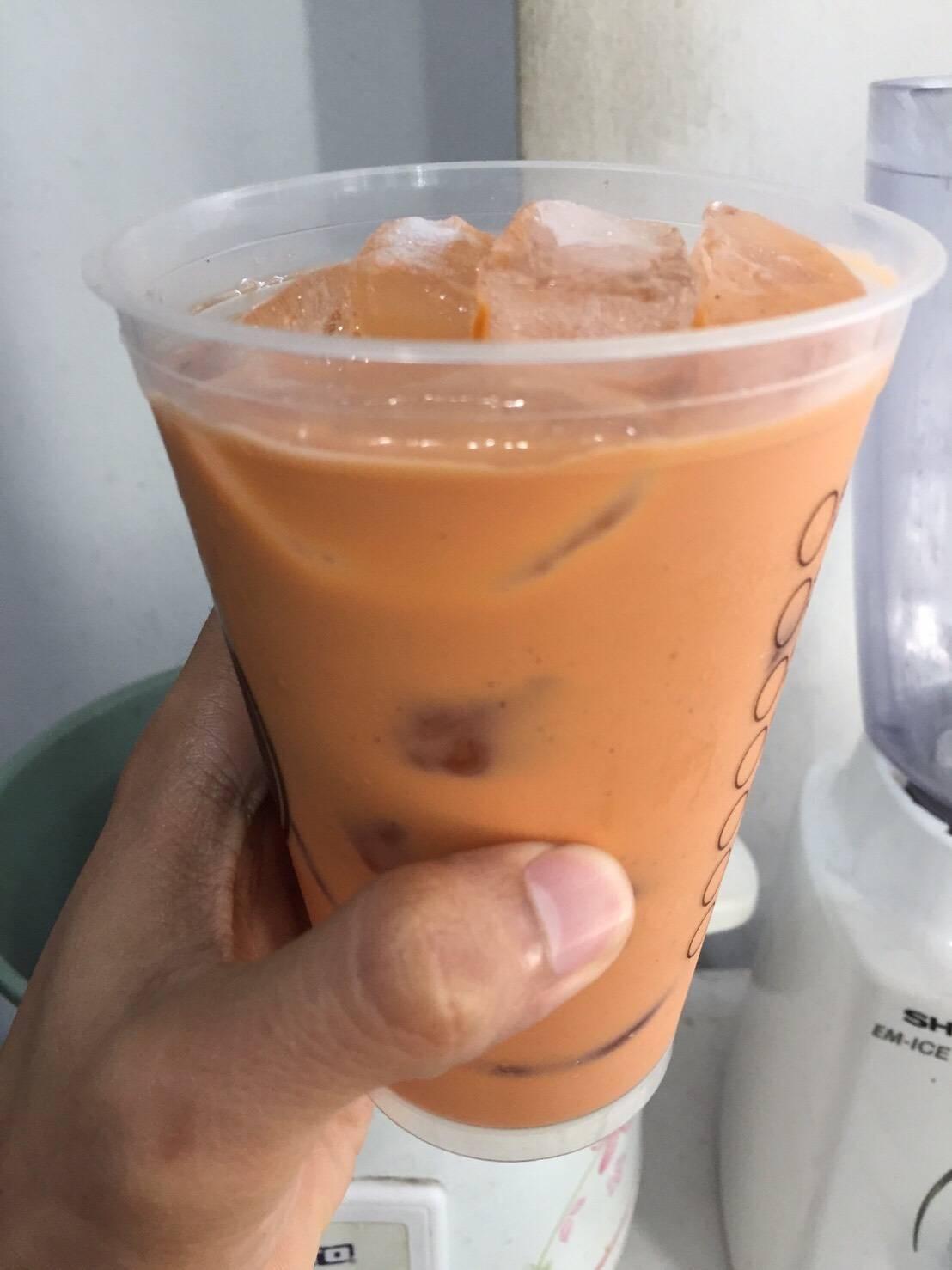 ชานมเย็นสูตรหญ้าหวาน