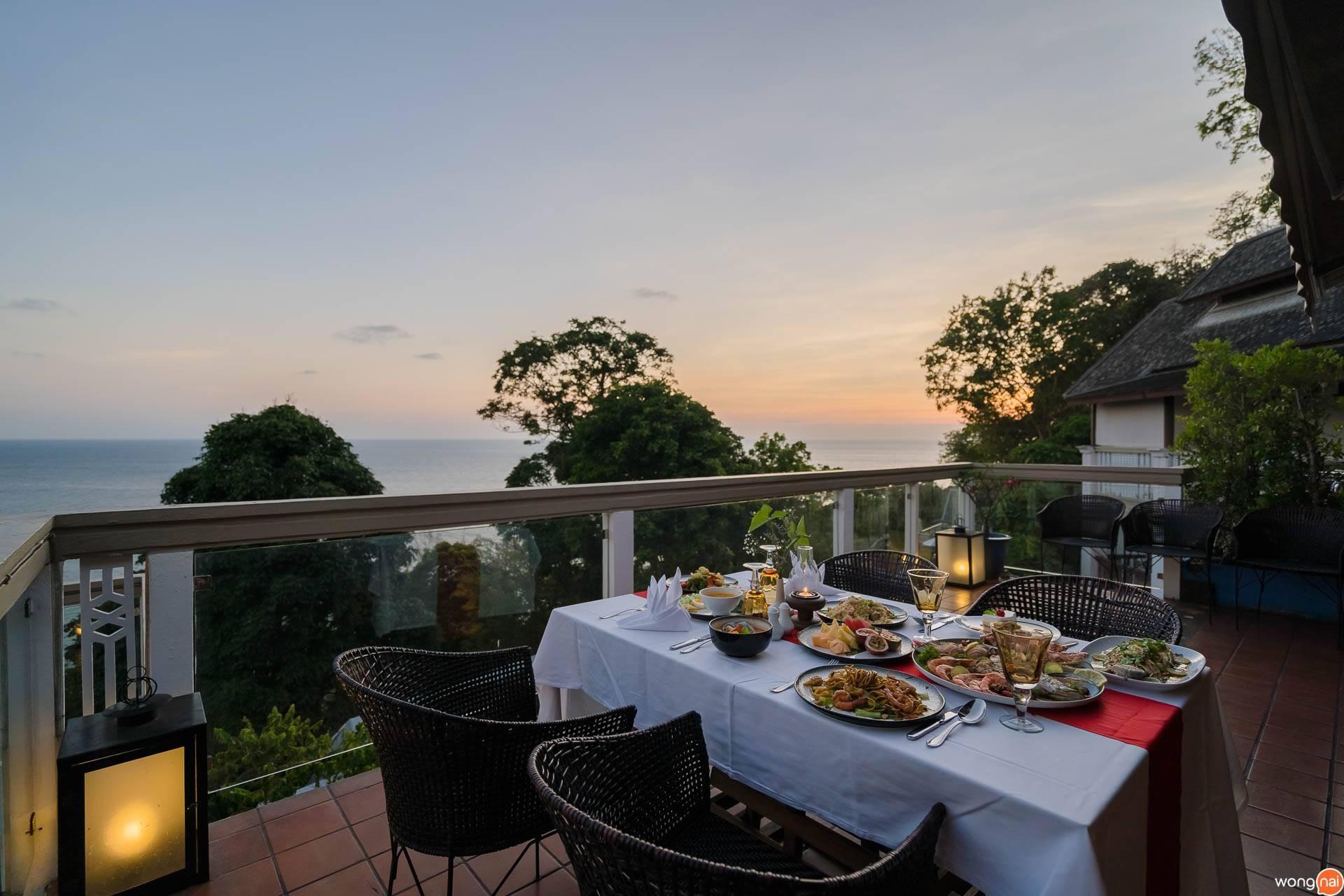 The Cliff Restaurant & Bar at  Centara Villas Phuket