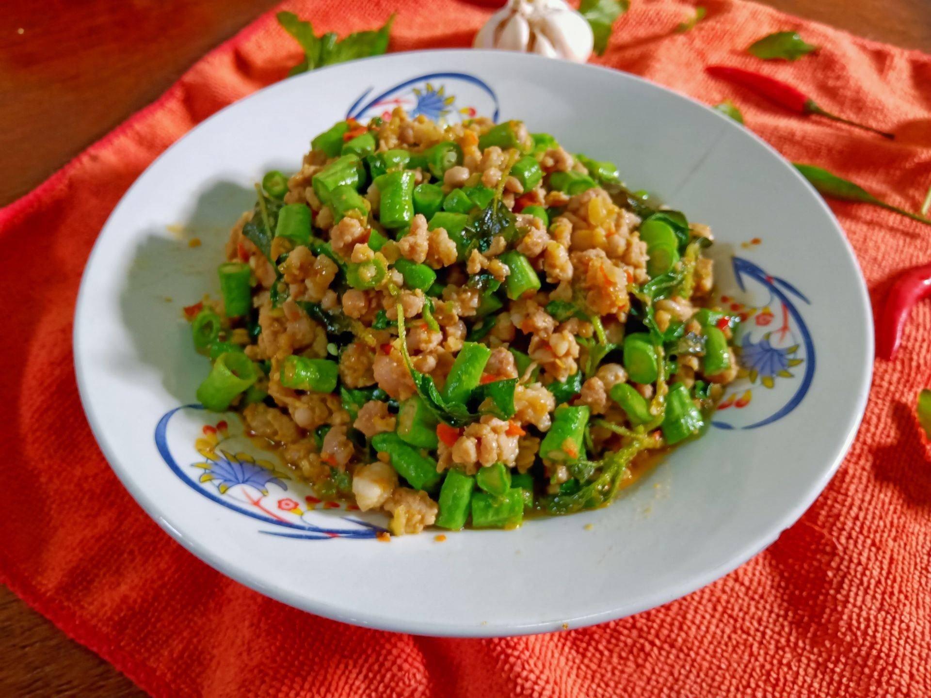 สูตร กะเพราหมูสับถั่วฝักยาว พร้อมวิธีทำโดย ℊℯℯℯ ☘︎ - Wongnai  Cooking