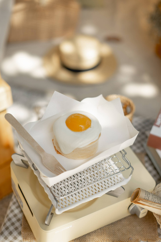 Sweet Peach Souffle Pancake