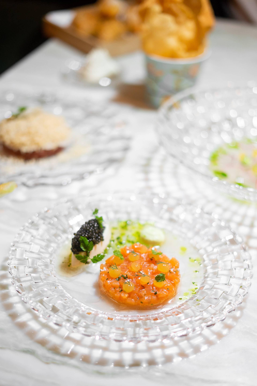 Salmon - Petrossian Caviar - Creme Fraiche