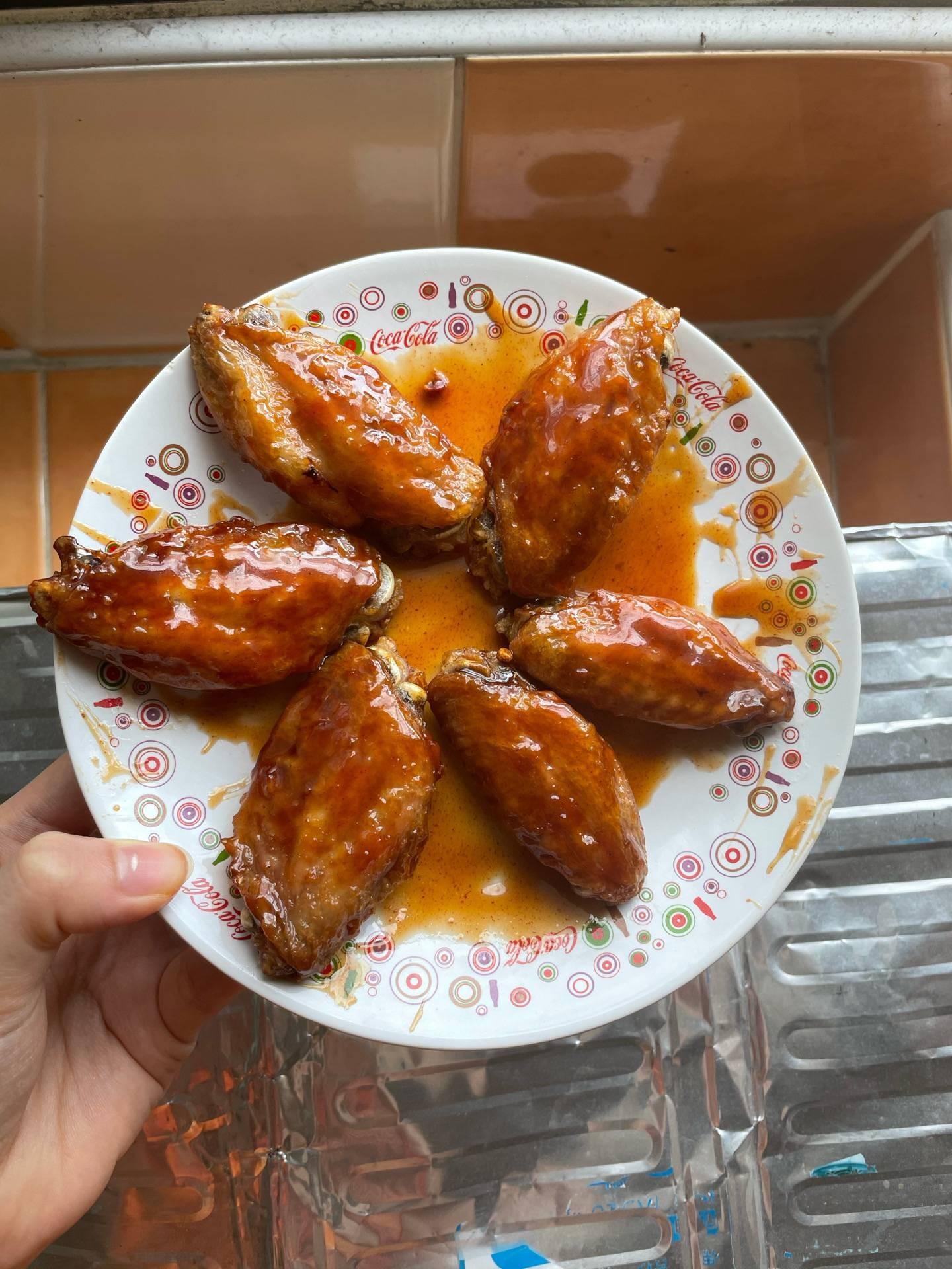 Air fryer Bonchon chicken wing