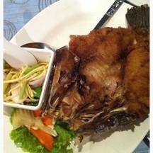 ปลากระพงทอดน้ำปลา อร่อยประทับใจมากๆๆ