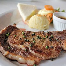 สเต็กพริกไทยดำเนื้อ