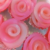 ขนมชั้นกุหลาบ Thai Pink Rose Layered Dessert
