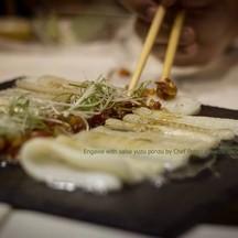 engawa with salsa yuzu ponzu