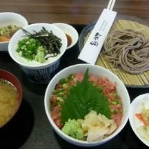 เซ็ตอาหารกลางวัน เนงิโทโระด้ง มาคู่กับซารุโซบะ