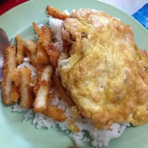 ข้าวไข่เจียวหมูสับ+ไก่ทอด