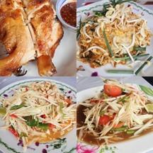 1.ไก่ย่าง2.ผัดไทย3.ตำปูปลาร้า4.ตำไทยไข่เค็ม. ได้เยอะมากๆเหมาะสมกับราคา อร่อยด้วย