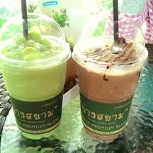 ชาเขียวปั่น&โกโก้ปั่น