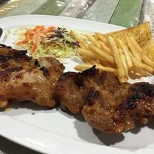 สเต็กไก่เทอริยากิ+หมูพริกไทยดำ