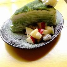 เครปเค้กสดชาเขียว