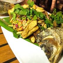 ปลากะพงโบราณ [390++] [อาหารแนะนำของร้าน]