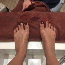 สีเท้าที่ได้ค่ะ