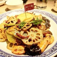 ราคา 128 HKD จานนี้อร่อยค่ะ รสชาตเผ็ดดี ไม่เลี่ยน