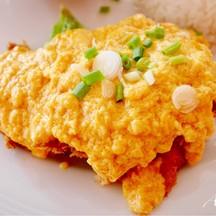 ปลาทอดซอสมันปู