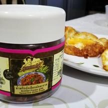 น้ำพริกกุ้งเสียบผัดมะขามทานกับไข่ดาว อร่อยเลิศ
