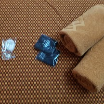 เจลอาบน้ำ หมวกอาบน้ำ กางเกงใน ผ้าขนหนู