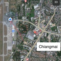Can walk from airport Chiangmai.