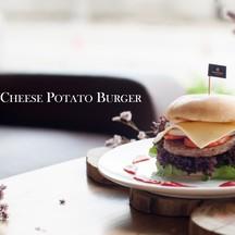 Food - Sandwich_แซนวิช Chicken Cheese Potato Burger _  ชีสเบอร์เกอร์ไก่