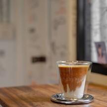 A Shot of Espresso with Pistachio Milk  (good for cow milk allergy)