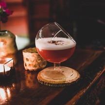 Gin infused Tea Rose Pomegranate