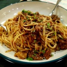 Spaghetti with Wagyu & meat sauce