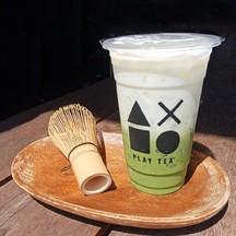 ชาเขียวมัทฉะ ลาเต้   หอม ชาเขียวเข้มข้น ร้านเพลย์ที ชานมไข่มุก