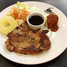Pork Steak Marinade Black Pepper Thai Spicy Sauce and Mashed Potato